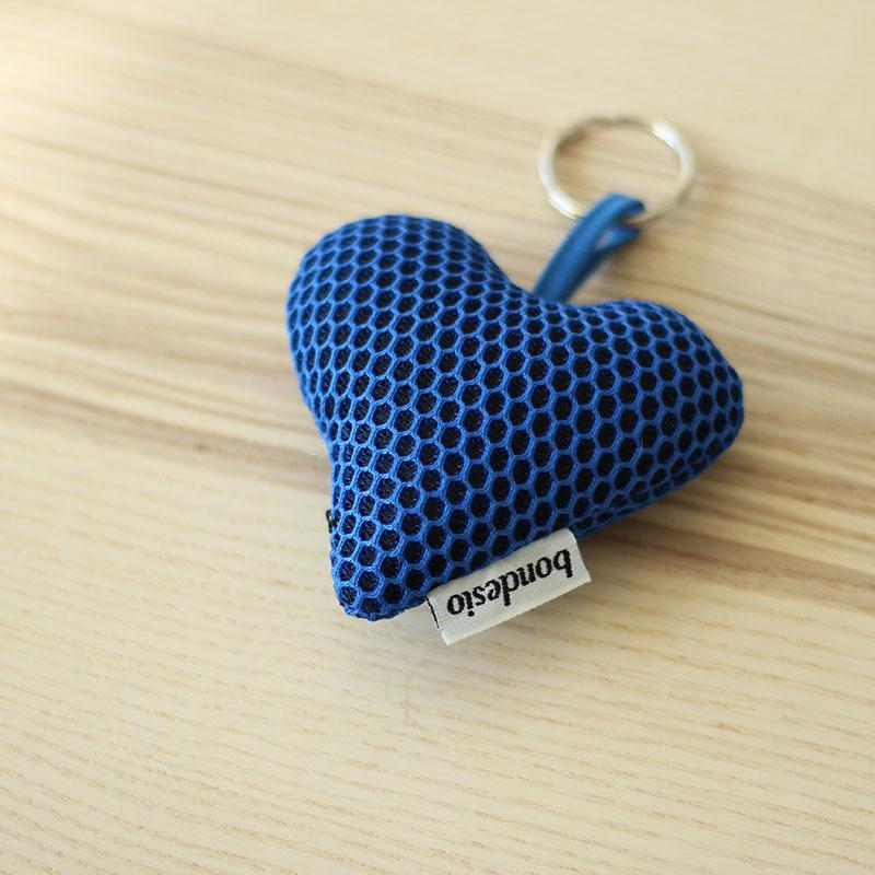 llavero corazon azul