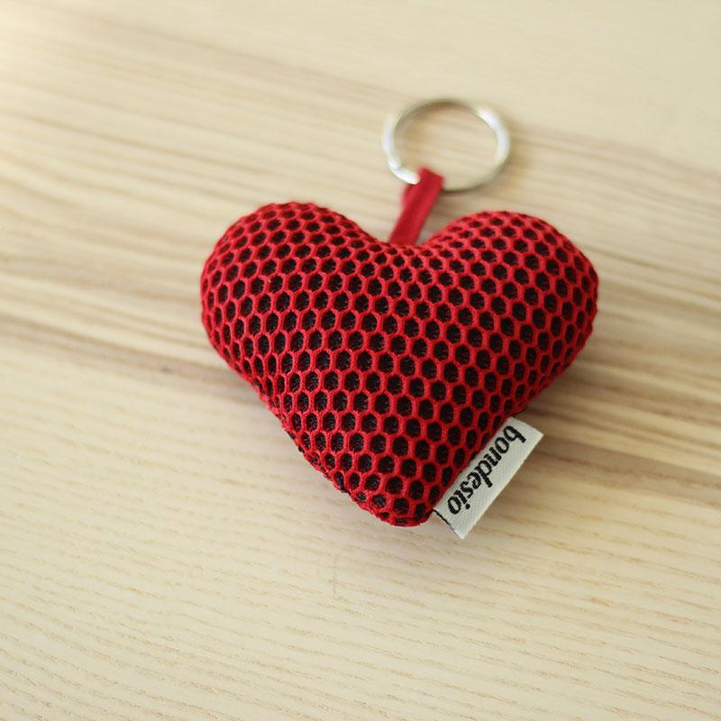 llavero corazon rojo