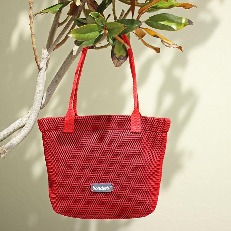 bolso rojo lavable