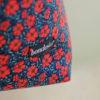 detalle bolso tela flores