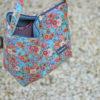 bolso tela flores
