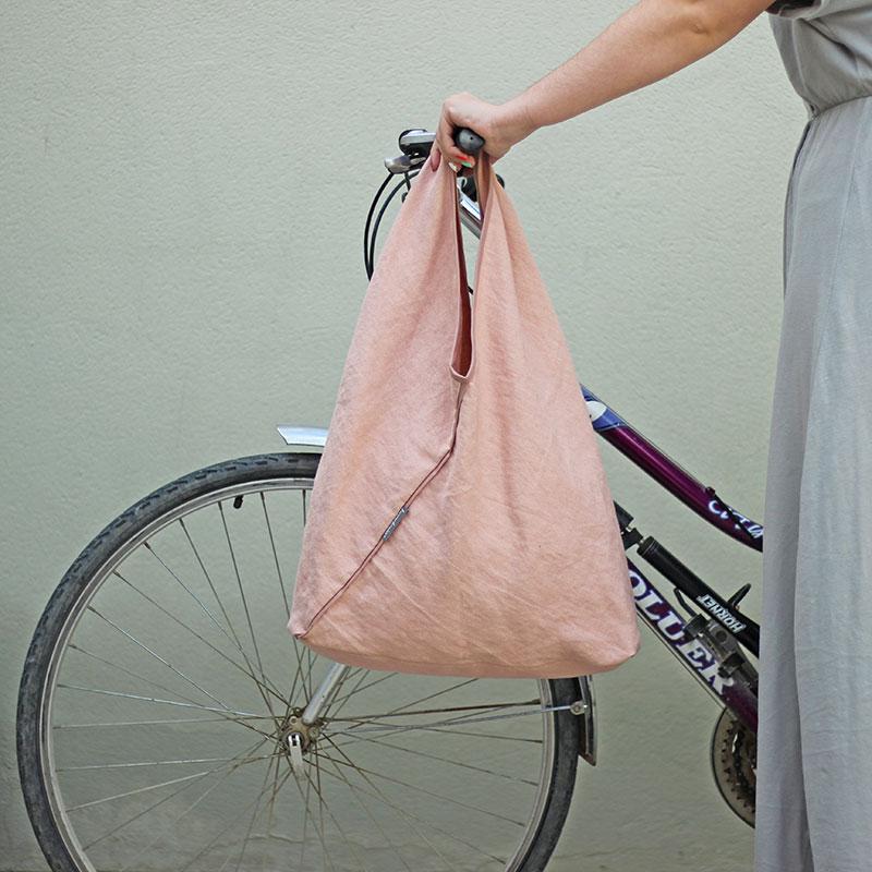 bolso tela rosa