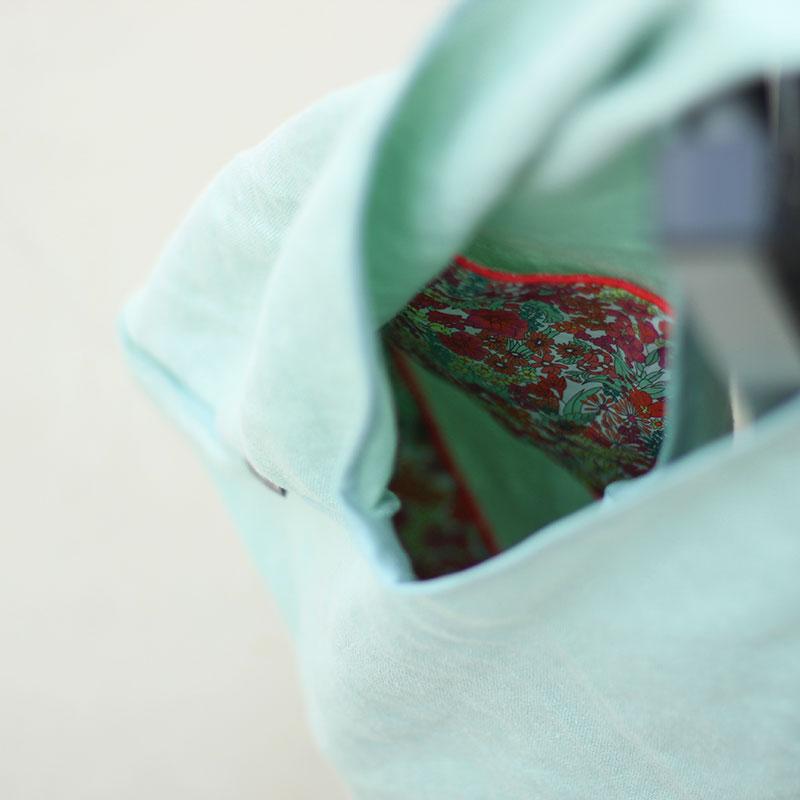 interior bolso verde