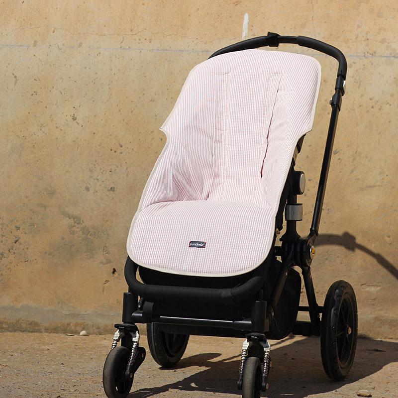 funda carro bebe rosa