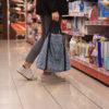 bolso de compra azul