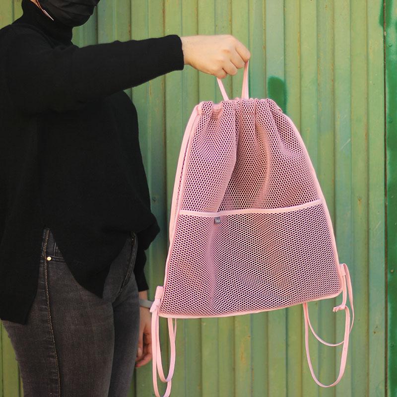 mochila transpirable rosa