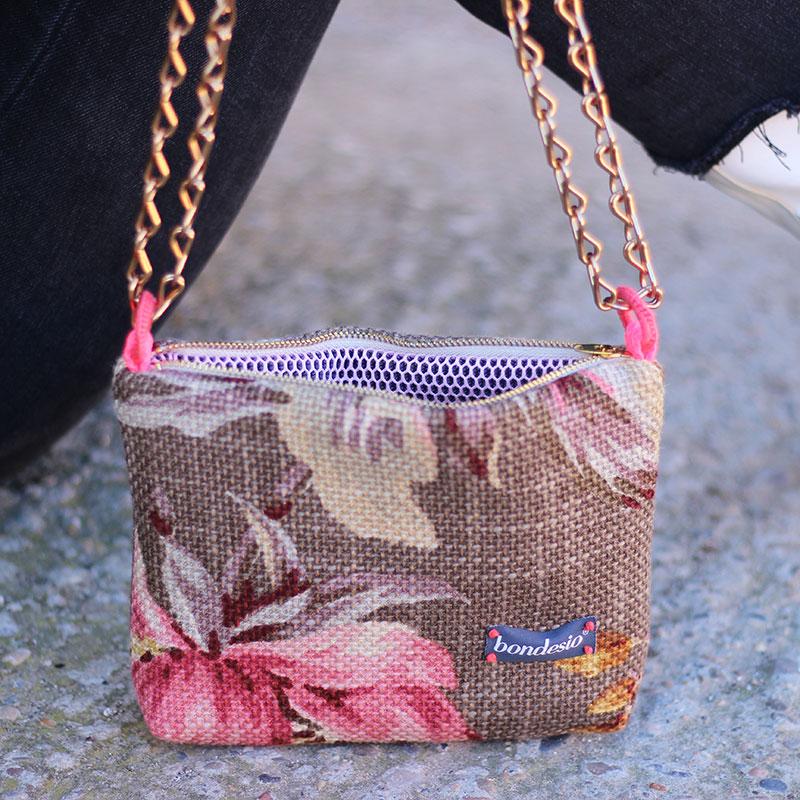 bolso bandolera flores